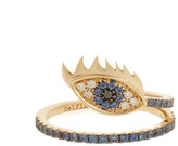 Delfina Delettrez Diamond, sapphire & yellow-gold ring