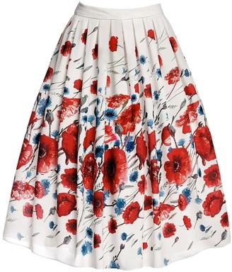 Rumour London Poppy Floral Print Midi Skirt