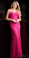 Scala Dazzling Embellished Strapless Sweetheart Evening Gown