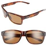 Smith Optics Men's Wolcott 58Mm Polarized Sunglasses - Matte Black/ Blue Mirror Lens