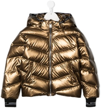 Givenchy Kids Hooded Down Padded Jacket