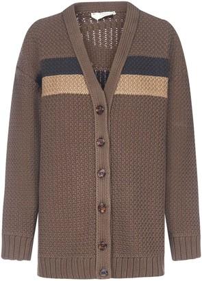 Fendi Pequin Stripes Cotton-blend Cardigan