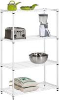 Honey-Can-Do White 4-Tier Adjustable Storage Shelving Unit