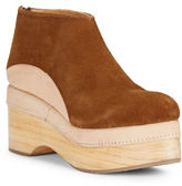 Free People Camilla Suede and Leather Platform Booties