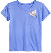 Hybrid Graphic-Pocket T-Shirt, Big Girls (7-16)