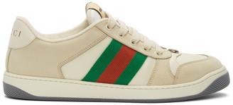 Gucci Off-White Screener Sneakers