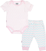 Kushies Light Pink Bodysuit & Pants - Infant