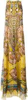 Roberto Cavalli printed maxi dress - women - Silk/metal/PVC/Polyester - 42