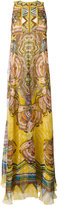 Roberto Cavalli printed maxi dress - women - Silk/Polyester/PVC/metal - 42