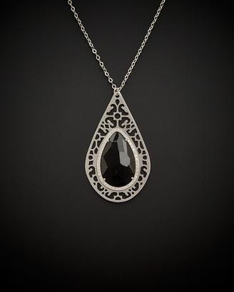 Italian Gold 14K 13.75 Ct. Tw. Diamond & Black Onyx Pendant Necklace