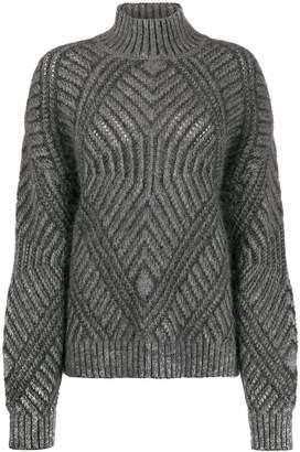 Alberta Ferretti textured knit jumper