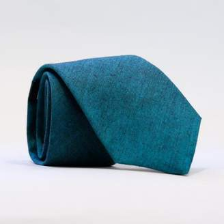 Blade + Blue Solid Teal Green Chambray Tie