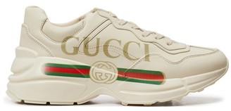 Gucci Rhyton logo trainers