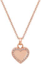 Michael Kors Crystal Heart Pendant Necklace