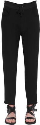 Ann Demeulemeester Slim Wool Pants W/ Knit Ankle Cuffs