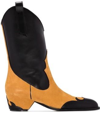 MANU Atelier Deniz 44mm panelled cowboy boots