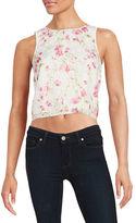 Kensie Floral Cropped Top