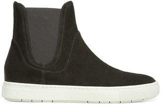 Vince Nira High-Top Suede Slip-On Sneakers