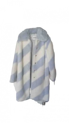 Stand Studio Blue Faux fur Coats
