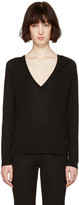 Proenza Schouler Black V-neck Sweater