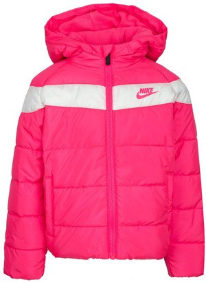 Nike Girls 4-6x Sportswear Full-Zip Water-Resistant Puffer Jacket