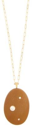 Cvc Stones Steady Diamond & 18kt Gold Necklace - Womens - Gold
