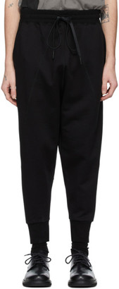 The Viridi-anne Black French Terry Lounge Pants