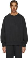 Yeezy Black 'Calabasas' Boxy Crewneck Sweatshirt