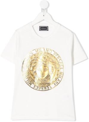 Versace foil logo print T-shirt