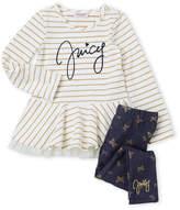 Juicy Couture Girls 4-6x) Two-Piece Metallic Printed Top & Leggings Set