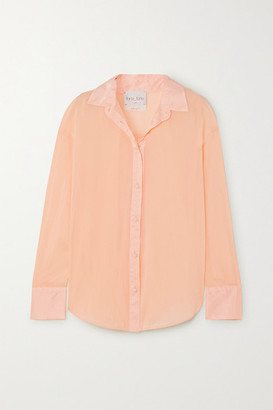 Forte Forte forte_forte - Cotton And Silk-blend Voile Shirt - Peach