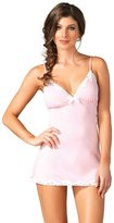 Leg Avenue Women's Seraphina By Jersey Nightie with Lace Trim