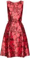 Oscar de la Renta Sleeveless floral-print mikado dress