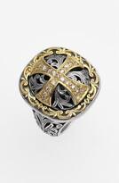 Konstantino 'Diamond Classics' Diamond Cross Two-Tone Ring
