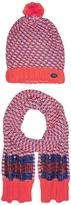 Little Marc Jacobs Set of Knitted Hat and Scarf with Sequined Stripes Scarves