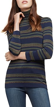 L'Agence Harlee Striped Turtleneck Sweater