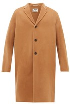 Acne Studios Chad Single-breasted Wool Overcoat - Mens - Camel