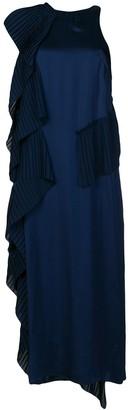 Kenzo Asymmetric Pleat Detail Dress