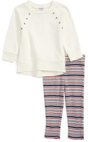 Splendid Girl's Sweatshirt & Stripe Leggings Set