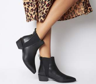 Office Alara Pointed Chelsea Boots Black Leather