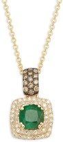 Effy 14K Yellow Gold, Emerald & Diamond Pendant Necklace
