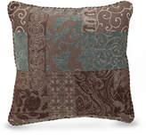 """Croscill Galleria Brown 18"""" Square Decorative Pillow"""