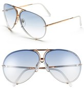 Porsche Design Men's 'P8478' 66Mm Aviator Sunglasses - Yellow Gold