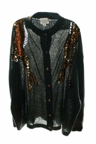 Wildfox Couture Manhattan Midnight Cardigan in Dirty Black