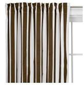Bacati Stripes White/Chocolate Curtain Panel
