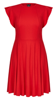 City Chic Frill Shoulder Dress