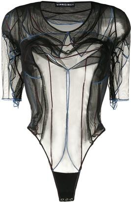 Y/Project Sheer Short-Sleeved Bodysuit