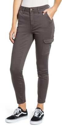 Prosperity Denim High Waist Cargo Ankle Skinny Jeans