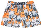 Sunuva Elephant-Print Swim Trunks