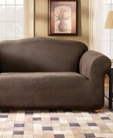 Sure Fit Stretch Faux Leather Separate Seat Loveseat Sofa Slipcover